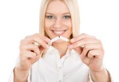 quit抽烟 库存照片