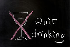 Quit drinking Stock Photo