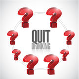 Quit drinking illustration design over Stock Image
