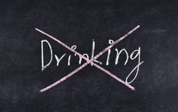 Quit drinking Royalty Free Stock Photography