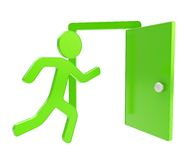 Quit, emergency exit icon emblem isolated Stock Photography