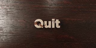 Quit - grungy wooden headline on Maple  - 3D rendered royalty free stock image Stock Image