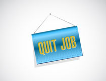 Quit job banner sign concept illustration Stock Images