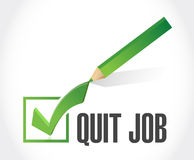 Quit job check list sign concept Stock Photo