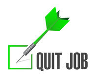 Quit job checklist sign concept Stock Images