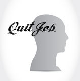 Quit job head sign concept illustration Stock Photos