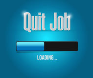 Quit job loading bar sign concept Stock Photography