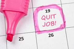 Quit job mark Stock Image