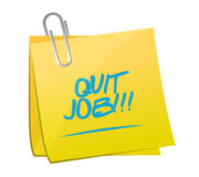 Quit job message post illustration Royalty Free Stock Image