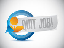 Quit job people sign concept illustration Stock Image