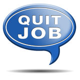 Quit job quitting work for career move. Quit job resign quitting from work and getting unemployed or for career move vector illustration