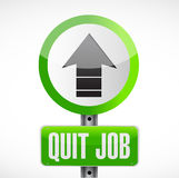 Quit job street sign concept illustration Stock Photography