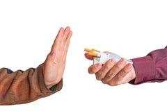 Quit rauchender Hintergrund Lizenzfreies Stockbild