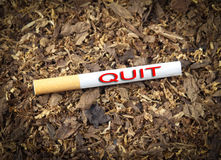 Quit In Red Stock Photo
