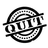 Quit rubber stamp Royalty Free Stock Image