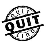 Quit rubber stamp Stock Images