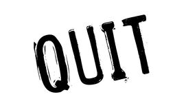 Quit rubber stamp Stock Photo