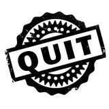Quit rubber stamp Royalty Free Stock Photo