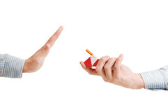 Quit smoking. (concept isolated on a white Stock Photography
