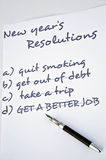 Quit smoking. New year resolution quit smoking,all others already completed Stock Photography