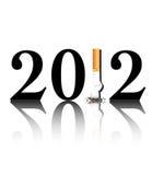 Quit smoking 2012 stock illustration