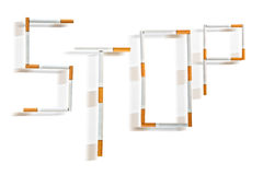 Quit smoking. Stop . Word written with cigarettes Royalty Free Stock Photo