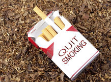 Quit Smoking Box Royalty Free Stock Photography