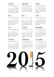 Quit smoking calendar 2015 Royalty Free Stock Photo