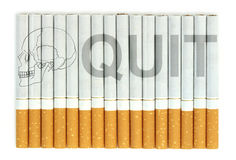 Quit smoking, cigarettes isolated on white background Royalty Free Stock Photo