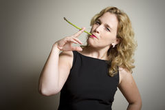 Quit Smoking. Eat Your Veggies! Royalty Free Stock Photography