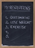 Quit Smoking, Exercise, Loose Weight Stock Photo