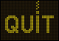 Quit Smoking Message on a LED Screen Royalty Free Stock Photo