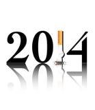 Quit smoking 2014 vector illustration
