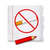 Quit smoking royalty free illustration