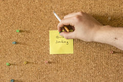 Quit Smoking Note Royalty Free Stock Photography