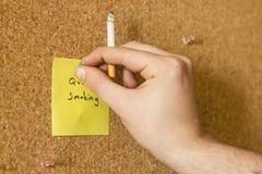 Quit Smoking Note Stock Image