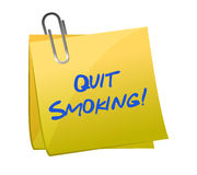 Quit smoking post it Stock Image