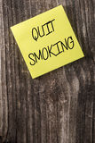 Quit Smoking Yellow Sticky Note Post It Royalty Free Stock Images