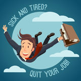 Quit your job!. Motivating EPS8  illustration Stock Image
