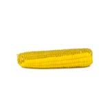 Quitando la semilla del maíz aislada en blanco Foto de archivo libre de regalías