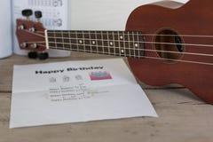 Quitar o ukulele Fotografie Stock Libere da Diritti