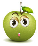 Quite apple smiley Stock Photos
