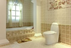 Quite bathroom. A nice and quite bathroom Royalty Free Stock Photo
