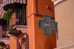 Farmacia, pharmacy and green cross