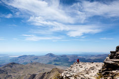 Quite Contemplation. From the summit of Snowdon Stock Photo