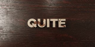Quite - grungy wooden headline on Maple  - 3D rendered royalty free stock image. This image can be used for an online website banner ad or a print postcard Royalty Free Stock Images