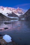 The quite the ice before the sun rises in Patagonia Stock Image