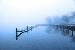 Quite lake in winter time Royalty Free Stock Photo