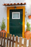 Quite portuguese private entrance Stock Images
