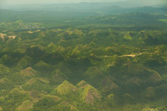 Quitinday green hill chocolate hills Legazpi, Philippines Stock Image